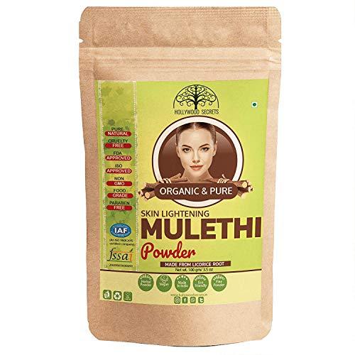Shopping E-Kart Hollywood Secrets Organic Food Grade Mulethi Powder Licorice For Skin Whitening (100 Grams ) ( Pack Of 3 )
