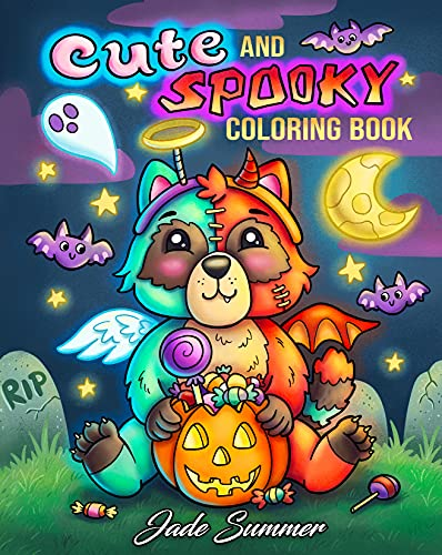 Cute and Spooky: A Halloween Coloring Book for Adults and Kids with Cute Characters, Spooky Scenes, and More!