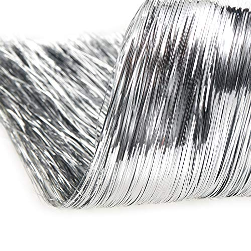 2500 Strands Decorations Tinsel Garland Tinsel Foil Fringe Icicles for Christmas Home Holiday Decor Birthday Graduation Supplies (Silver)