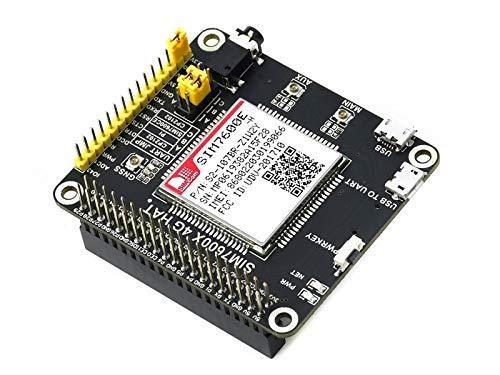 Ingcool 4G/3G/2G/GNSS HAT Modul für Raspberry Pi 4B/3B +/2B/Zero/Zero W/Zero WH, Jetson Nano, Basierend auf SIM7600E-H, 4G Modul Unterstützt LTE CAT4 mit bis zu 150Mbps für Daten Übertragung usw.
