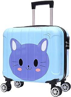 YCYHMYF Cute Kitty Pattern School Trip Blue Child Trolley Suitcase