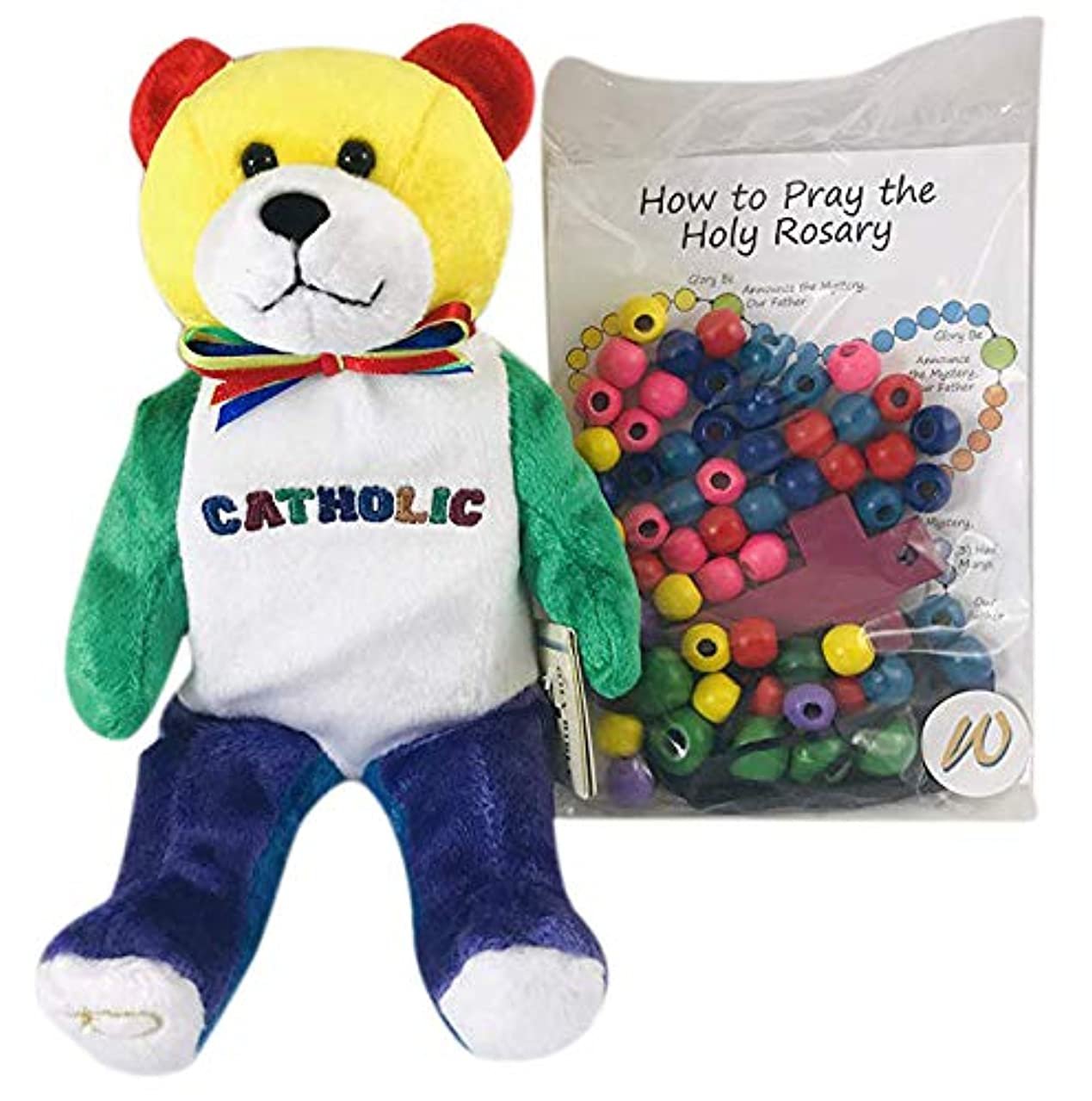 Make Your Own Rosary Craft with Plush Catholic Teddy Bear Gift Set