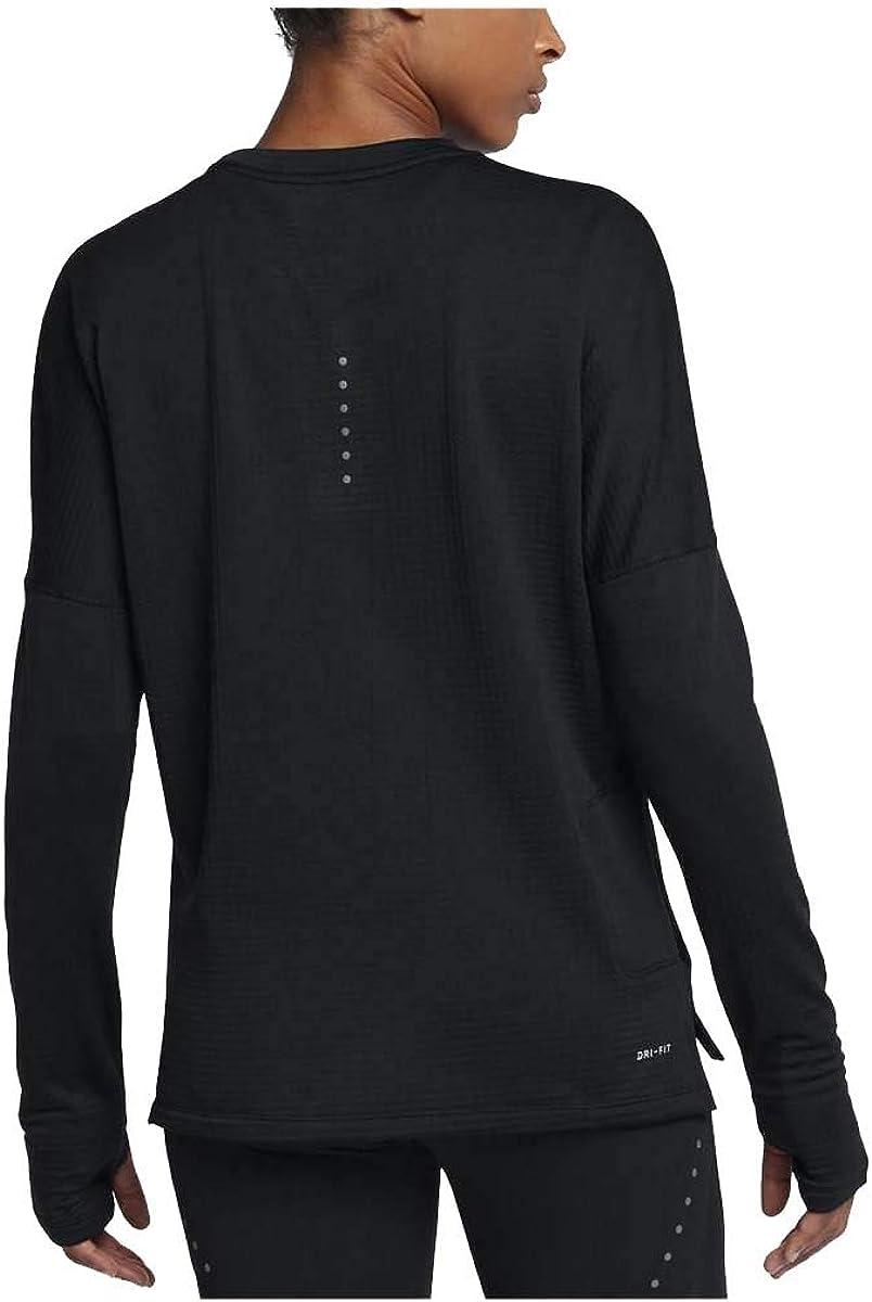 Edad adulta Camión golpeado Escupir  Amazon.com: Nike Women's Therma Sphere Element Running Top (Small, Black):  Clothing
