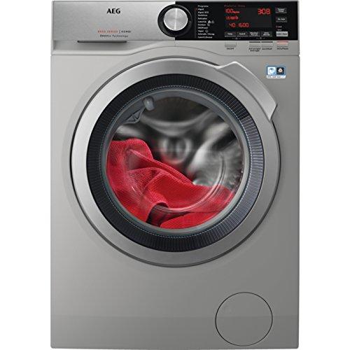 AEG L8WEC162S Independiente Carga frontal A Plata lavadora - Lavadora-secadora (Carga frontal, Independiente, Plata, Izquierda, Giratorio, Tocar, LED)