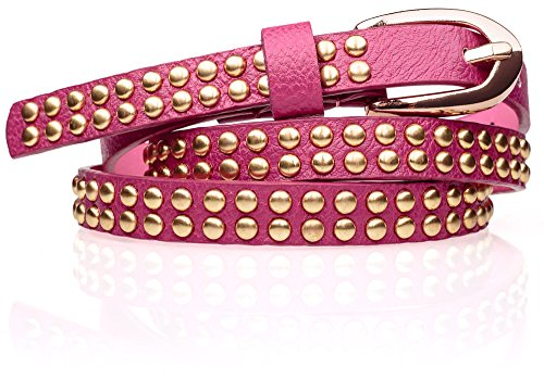 Esmara® Damen Gürtel, pink mit Nieten-Applikation, 85 cm