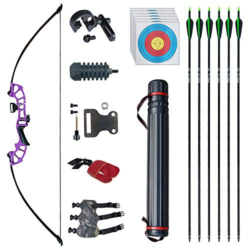 D&Q 50' Archery Takedown Recurve Bow Hunting Bow and Arrow...