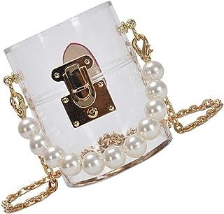 KESYOO Acryl Umhängetasche Perle Umhängetasche Kettentasche Transparente Clutch Tasche Abendtasche Umhängetasche Bankett H...