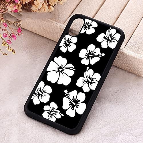 KESHOUJI per iPhone 5 5S SE Custodia Cover per iPhone 6 6S 7 8 Plus X XS XR 11 12 Mini PRO Max Estetica Fiori in Bianco e Nero, per iPhone X
