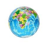 SUNFANY Stressball Entspannung Weltkarte Schaumstoffball Atlas Globe Palm Ball Planet Earth Ball - Blau