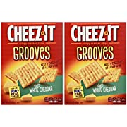 Cheez-It Grooves Sharp White Cheddar 9oz (Pack of 2)