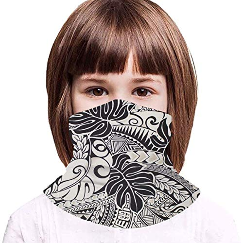 Hawaiian Polynesian Trbal Tatoo Iced Silk Mask Bandanas Teenager Neck Warmer Scarf