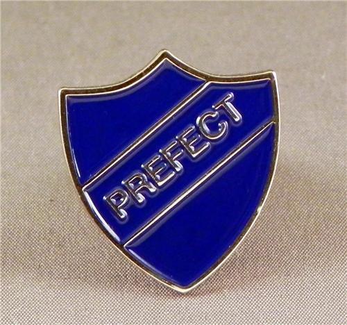 Broche en métal émaillé Motif Parfait (Bleu)