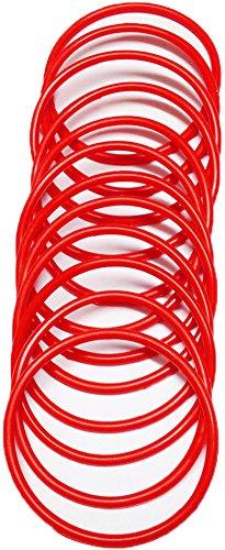 A-Express® Armreif im 1980er-Stil, neonfarbe, aus Gummi, Armband, rot