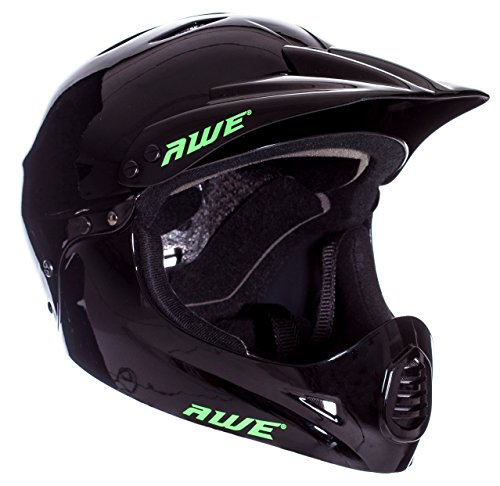 Casco para BMX de AWE®, 58-60 cm, color negro