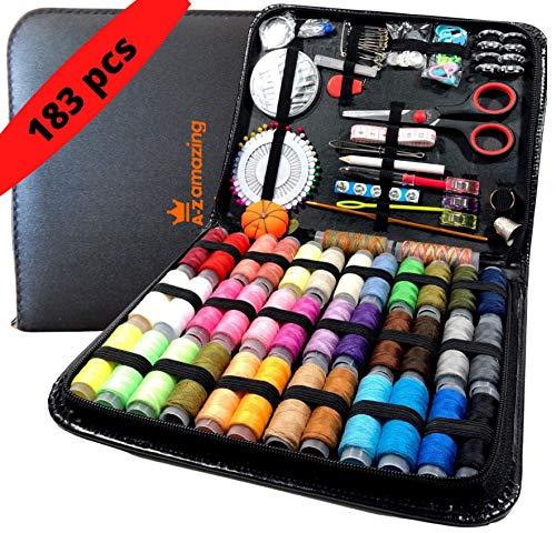 Large Sewing Kit,Premium Sewing Supplies, Oxford fabric Sewing kit for Beginner,Kids, Adults, Travel, Thread and Needle, Sewing Accessories, Organizer sewing box, Emergency kit, Diy and home(Rainbow).