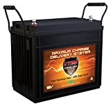VMAX SLR155 AGM 12V 155ah Deep Cycle SLA Rechargeable Battery for Solar and Golf, Pv Solar Panels, Smart Chargers, Wind Turbine and Inverters