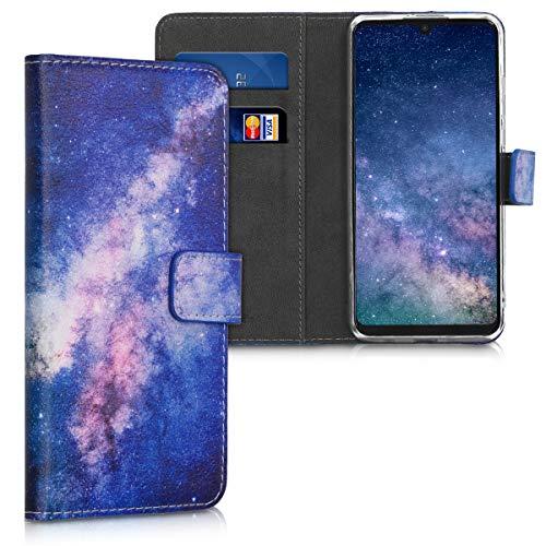 kwmobile Funda Compatible con Huawei P30 Lite - Carcasa de Cuero sintético Estrellas en la Galaxia - con Tarjetero