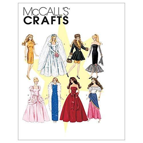 McCall's, Cartamodelli per Abiti Bambola, 8 Varianti