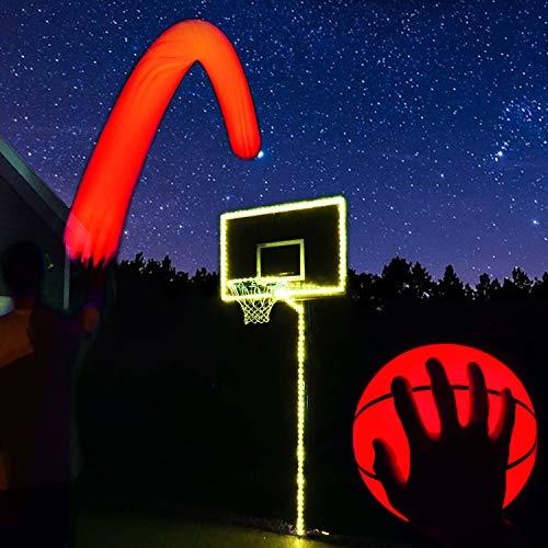 GlowCity Light Up Basketball Hoop Kit with LED Basketball - Yellow, Size 7 Basketball (Official Size)
