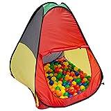 LittleTom Tienda de campaña Juguete 90x90x100cm Piscina de Bolas Multicolor