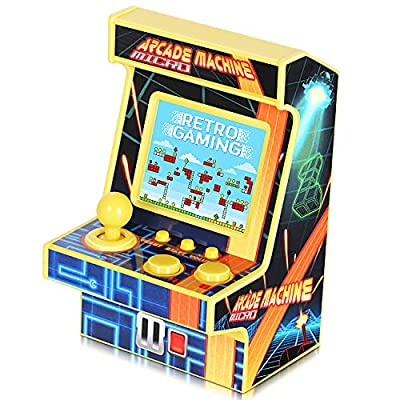 Golden Security Mini Retro Arcade Game Machine for Kids New Version 1.8in Colorful Screen 152 Classic Games Portable Gaming Arcade Cabinet Tiny Novelty Electronics for Boys Girls from Golden Security