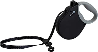 Alcott Adventure Retractable Leash, Black, XL