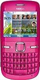 Nokia C3-00 Smartphone (6.1 cm (2.4 Zoll) Bildschirm, Bluetooth, 2 Megapixel Kamera, QWERTZ-Tastatur) pink