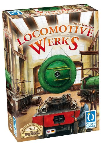 Queen Games Locomotive Werks Multi Language Board Game