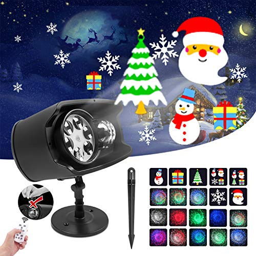 Holiday Projector Lights Outdoor 2-in-1 Ocean Wave Christmas Projector Lights...