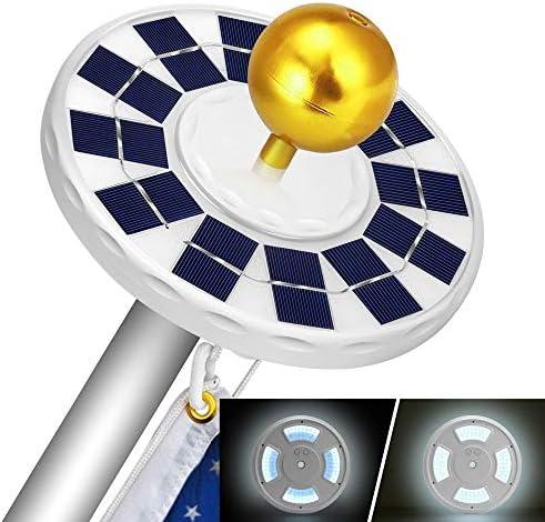 Solar Flag Pole Light Upgraded Version 128 LED Solar Powered Flagpole Lights Waterproof Energy product image