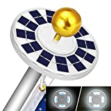 Solar Flag Pole Light,Upgraded Version 128 LED Solar Powered Flagpole Lights,Waterproof Energy Saving,Longest Lasting Upto 10 Hrs,Auto On/Off,Fit for Camping, Under the Eaves, Flagpole, Garden Dinner