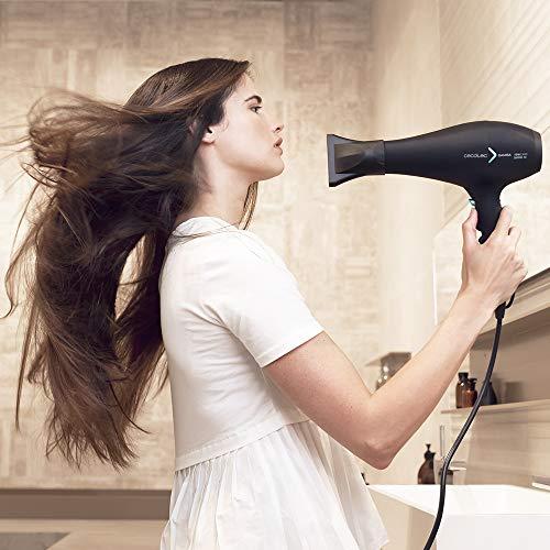 Cecotec Secador de pelo iónico Bamba IoniCare 5350 Powershine Ice. 2600 W de potencia, con ion real,dos boquillas de precisión, difusor máximo volumen, ajuste de temperatura y velocidad