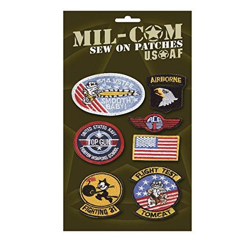 Mil-Com - Set mit Military-Patches zum Aufnähen - Motive inspiriert von der U.S. Air Force