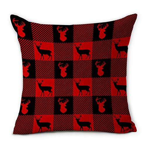 (75% OFF) Throw Pillow Cover Red Buffalo Checker $4.00 – Coupon Code