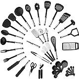 40 piezas de nylon de acero inoxidable Utensilios de cocina Set - antiadherente resistente al calor de utensilios de cocina, libre de BPA no tóxicos de cocina Utensilios de cocina Espátula Set Gadgets