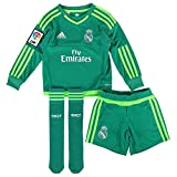 adidas A GK SMU M - Chándal Real Madrid CF 2ª equipación 2015/2016 Unisex, Color Verde/Blanco, Talla 140