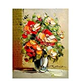 Pintura de bricolaje por números flores pintura al óleo pintada a mano pintura acrílica decoración del hogar regalo único divertido en casa A10 50x70cm