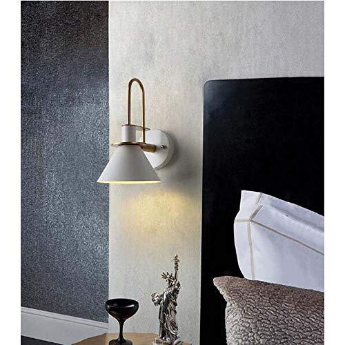 LFK Makaron - Luces de pared de esquina LED, hardware y altavoz pintado, 1 fuente de luz, E27 x 1, efecto de luz blanca cálida (color: gris)
