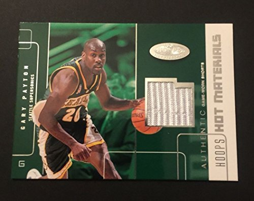 Gary Payton Supersonics Oregon State 2002 Fleer Hoops Jersey Certified JN15