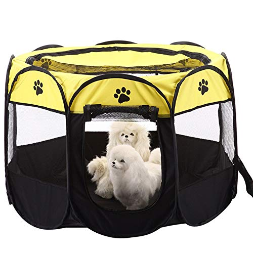 Aoweika Portable Pet Playpen, Puppy Dog Cat Playpen with 8-Panel Kennel, Indoor/outdoor Pet Tent Fence for Pet Kennel Cage, Rabbit Guinea Pig Playpen and Hamster Cage
