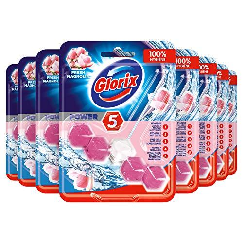 Glorix Power-5 Toiletblok Fresh Magnolia - 9 stuks - Multipack