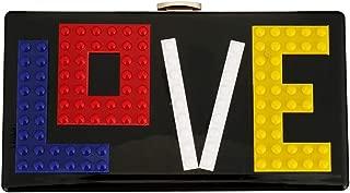 Acrylic Box Bag for Women, Fashion Letter Love Clutch Purse Handbag for Bridal Party Cocktail Acrylic Evening Bag