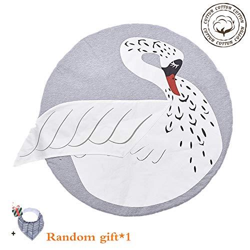 Krabbeldecke für Baby,Morbuy Kinder Schlafbereich Teppich Kuschelige Cartoon Spielmatte Runde Teppich Dekoration für Kinderzimmer Crawl Spielmatte Spiel Gym Aktivität