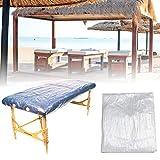 90 sábanas impermeables desechables, sábanas de masaje profesionales, fundas de plástico para camillas de masaje, sábanas de mesa de masaje desechables, blanco transparente