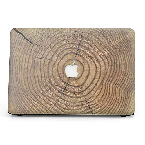 Belk Custodia per MacBook Air 13 A1932 Modello 2018, Custodia Rigida in plastica Rivestita con Texture in Legno 2 in 1 con Cover per Tastiera per MacBook Air 13 con Display Retina e Touch ID