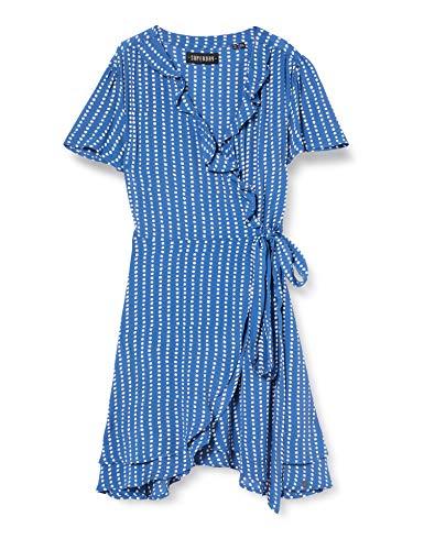 Superdry Summer Wrap Dress Monos Cortos, Azul (Blue Dot 69l), XL (Talla del Fabricante:16) para Mujer