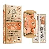 Pestmatic Smart Trampa para polillas x8 despensa para cocina feromona comida trampa para polillas 4 trampas para despensa ecológico + 4 almohadillas adhesivas repelente de polillas seguro y natural