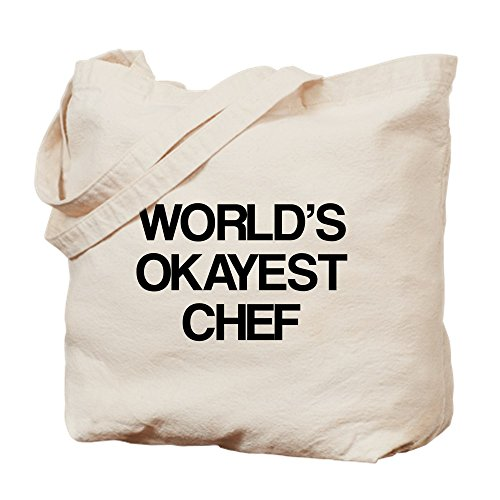 CafePress World's Okayest Chef Tragetasche, canvas, khaki, M