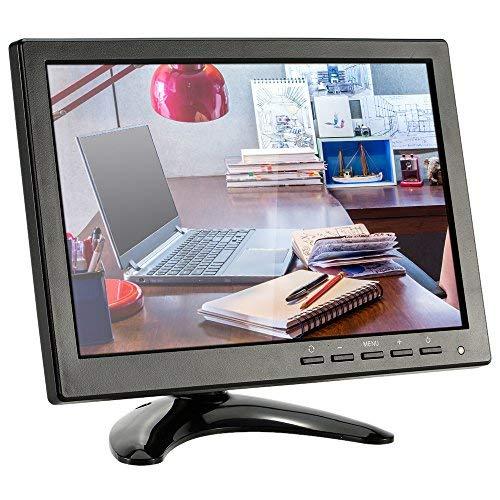 KKmoon Mini Monitor 1080p 10,1 Zoll LED IPS HD CCTV Monitor mit HDMI/VGA/BNC/AV/USB mit Lautsprecher Eingang Empfängerunterstützen Festplatte für CCTV Kamera, PC, Überwachungssystem