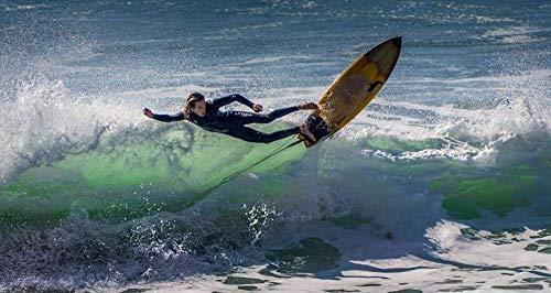 Yqgdss Hombre Surfeando En El Mar Rompecabezas 1500 Piezas De Rompecabezas para Niños Juego Educativo Regalo De Cumpleaños Pinturas Decorativas para Niños